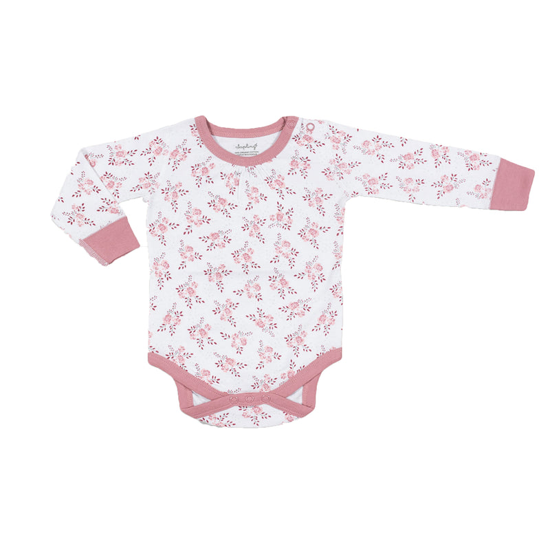 saplingchild organic cotton baby wear bramble long sleeve bodysuit babygirl clothes