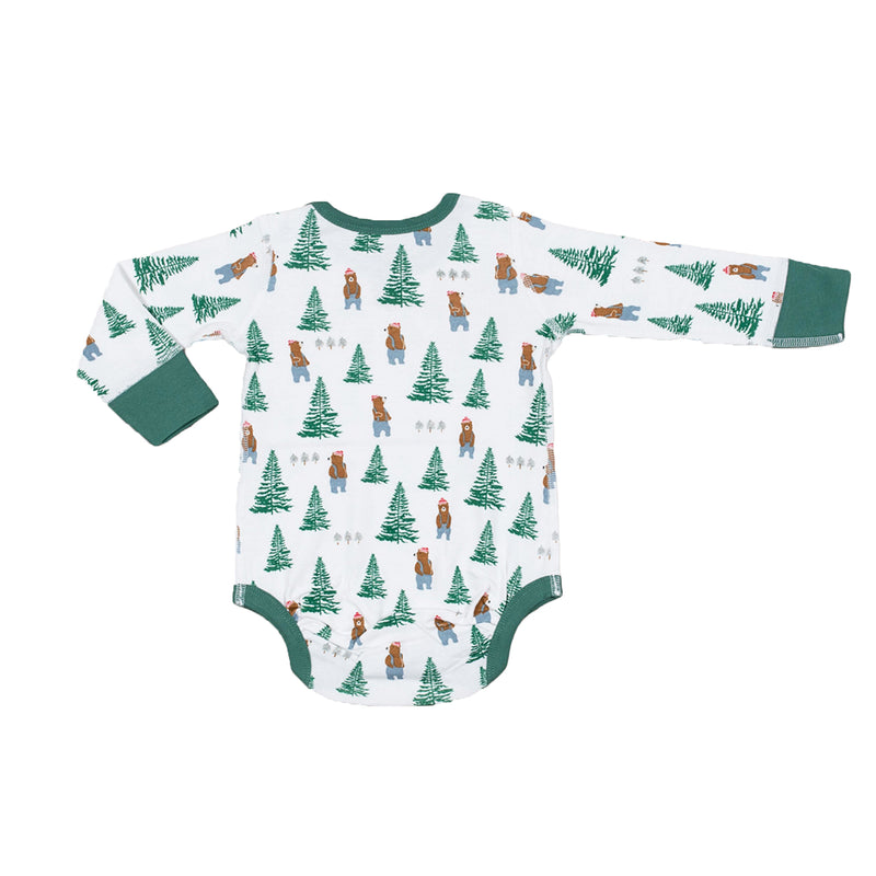 Sapling Organic cotton Lumberjack long sleeve bodysuit for baby