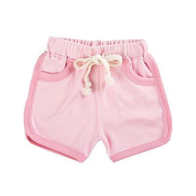 Heather Pink Baby Shorts