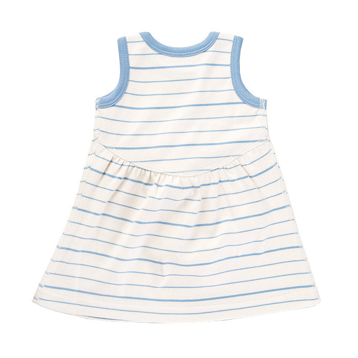 Blue French Stripe Dress