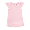 Heather Pink Flutter Sleeve Tee