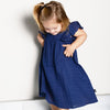 anarkid organic cotton muslin navy princess lace line dress baby girl