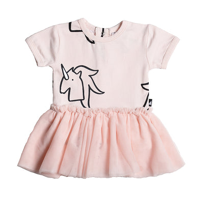 anarkid unicorn tutu tulle bodysuit dress pink girls