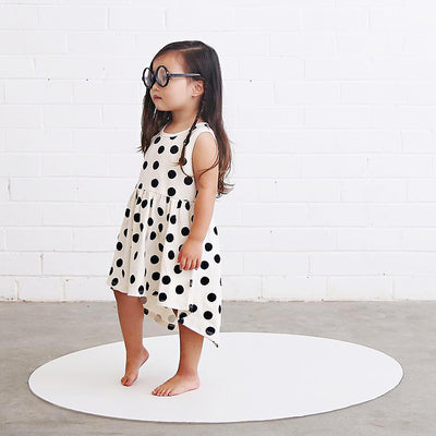 anarkid organic girl spot polka dot sleeveless dress