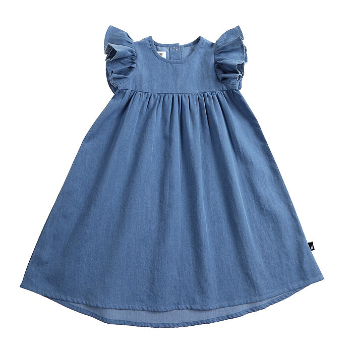 anarkid organic washed chambray blue dress jeans baby kids girls