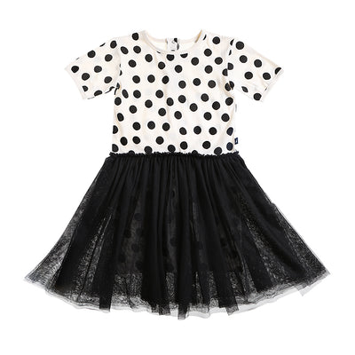 anarkid spot polka dot tutu tulle dress black girl
