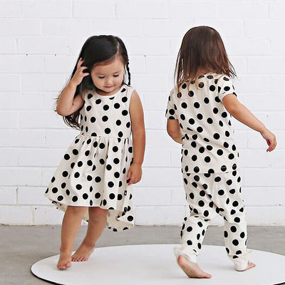 anarkid organic cotton spot polka dot sleeveless dress girl