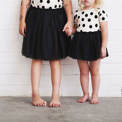 anarkid organic cotton spot polka dot tulle tutu dress baby girl