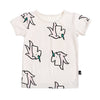 anarkid organic baby kids unicorn short sleeve tee boy girl