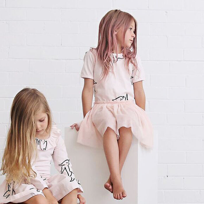 anarkid organic baby girl unicorn tulle tutu bodysuit dress
