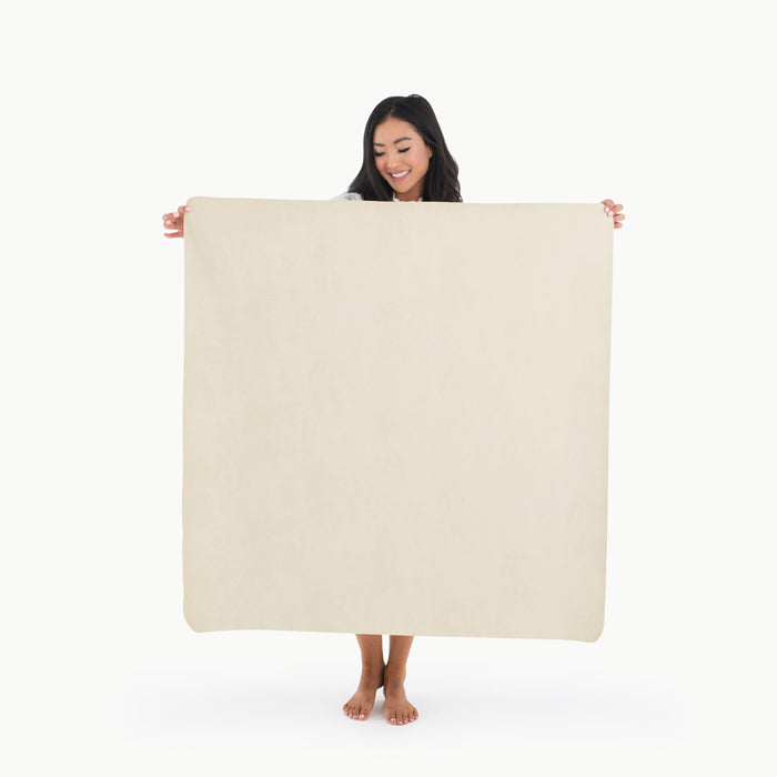 Mini Leather Mat Blanc