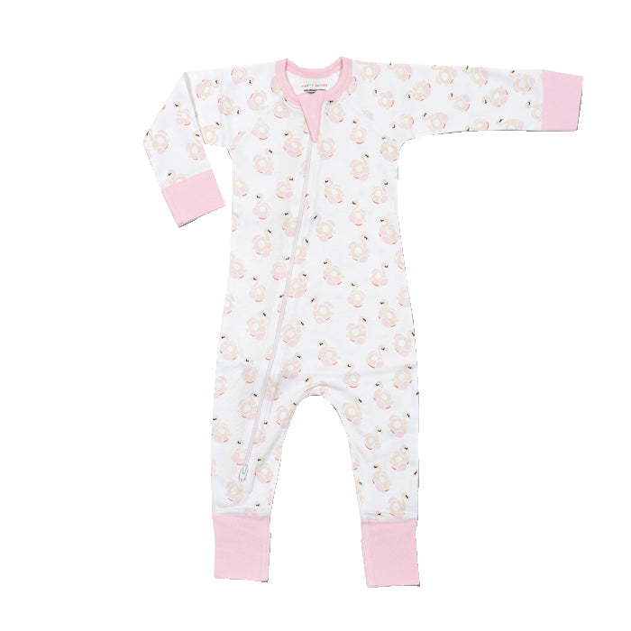 Flamingo Organic 2-way Zip Romper