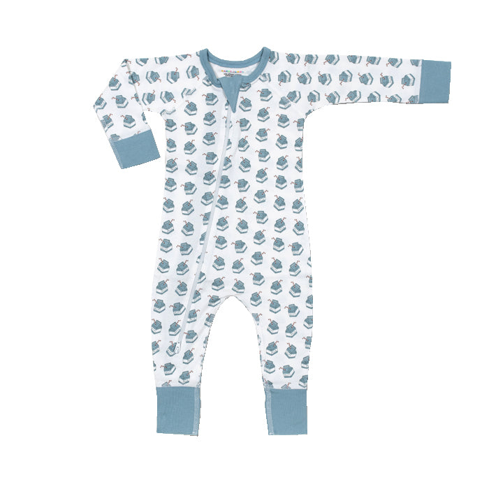 Milk Organic 2-way Zip Romper