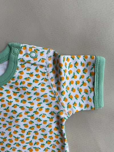 Clementine Oranges Organic Cotton Short Sleeve Bodysuit
