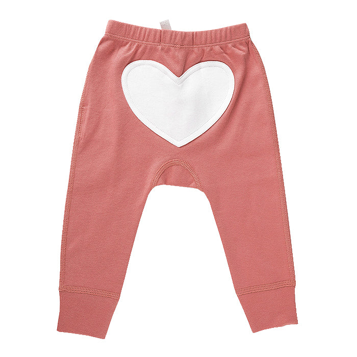 Bud Pink Organic Cotton Heart Pants