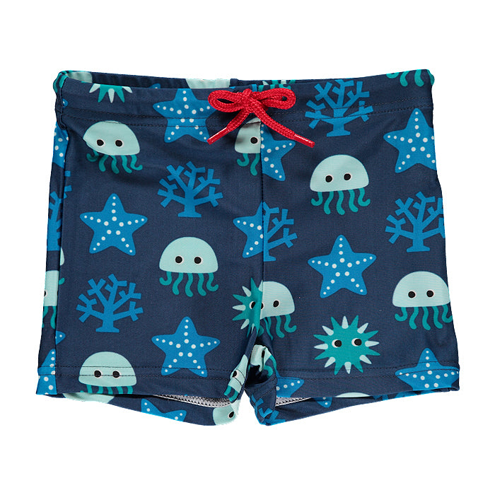 maxomorra organic kids swim trunk swimwear