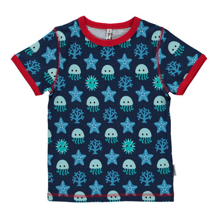 maxomorra organic kids deep sea short sleeve tee