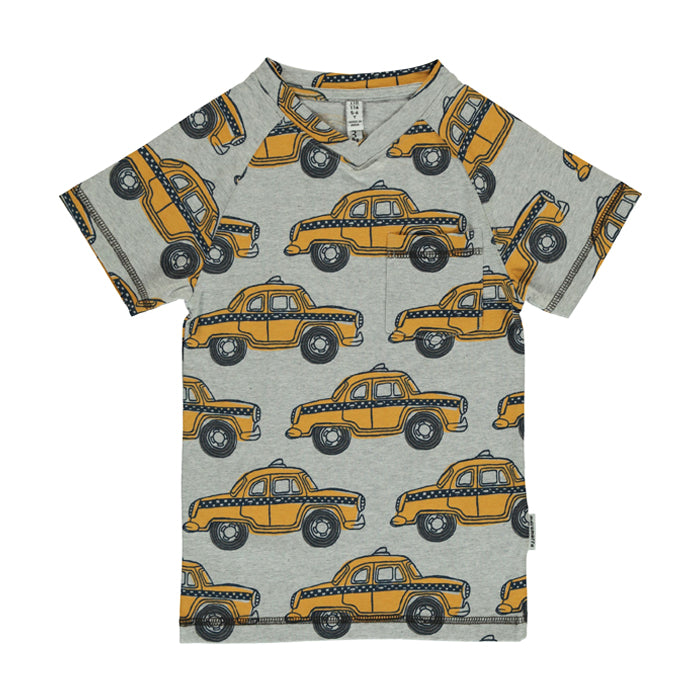 Taxi Organic V-Neck Short Sleeve Top