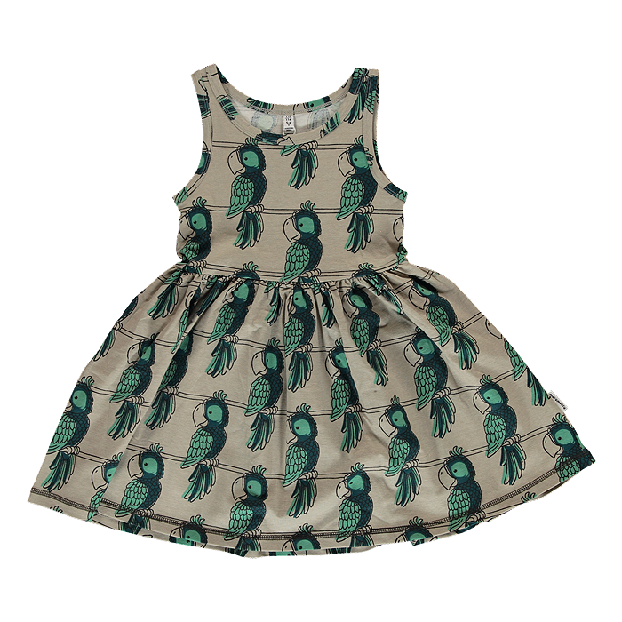 maxomorra kids girls parrot spin dress