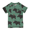 maxomorra rhino v-neck short sleeve top