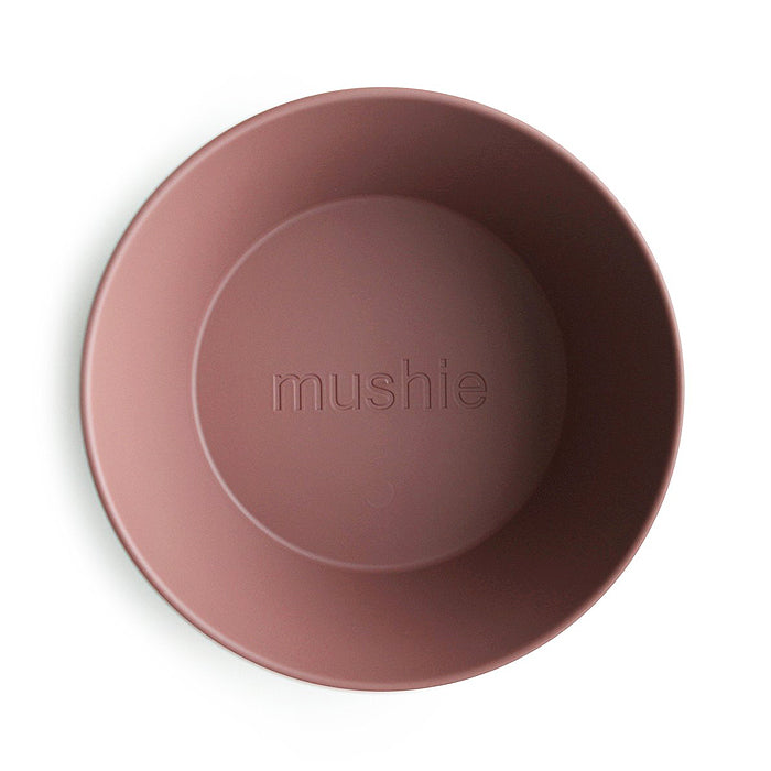 mushie kids round bowl dinnerware woodchuck