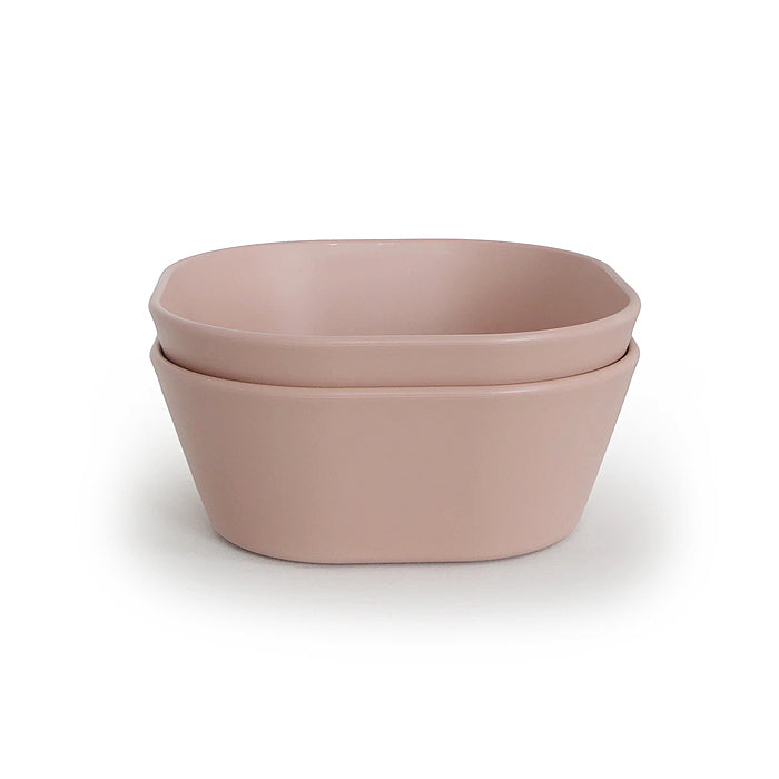 mushie kids square bowl blush