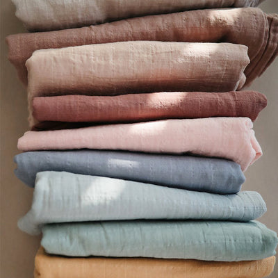 mushie organic muslin swaddle blanket collection newborn baby