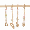 wooden baby gym pink toys only