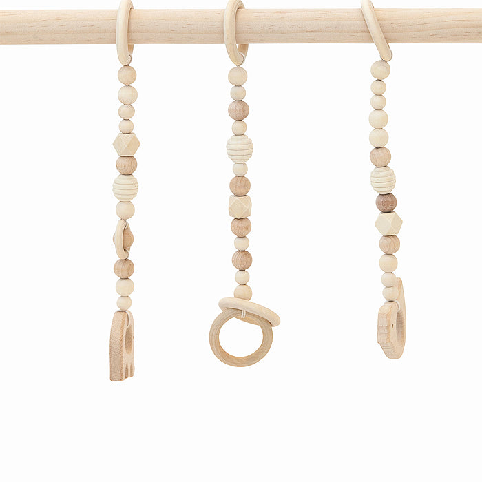 wooden baby gym natural wood toys only