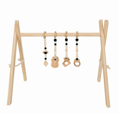 wooden baby gym black toys