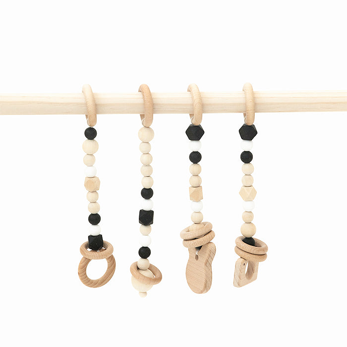 wooden baby gym black toys only