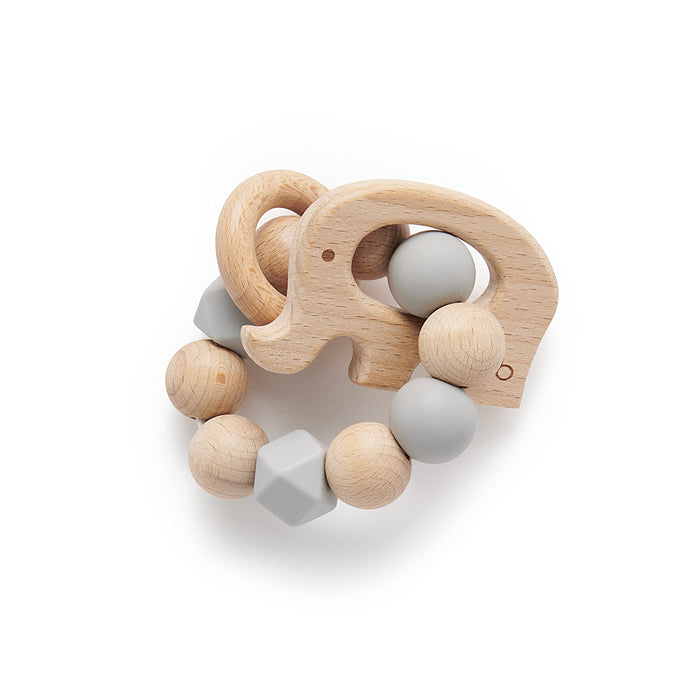 Elephant Teething Ring Grey