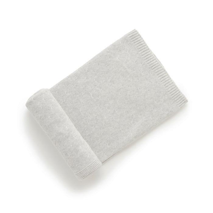 Essentials Blanket in Pale Grey Melange