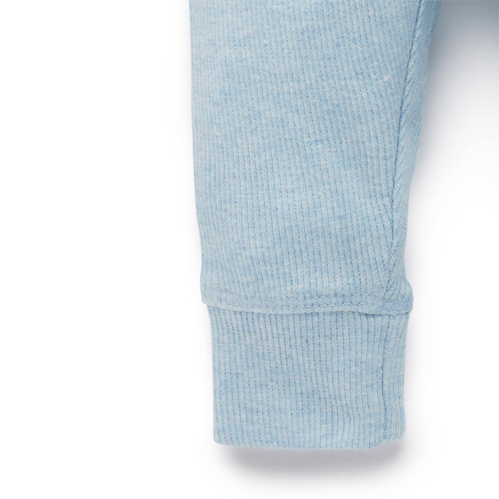 purebaby everyday legging soft blue baby pants organic cotton