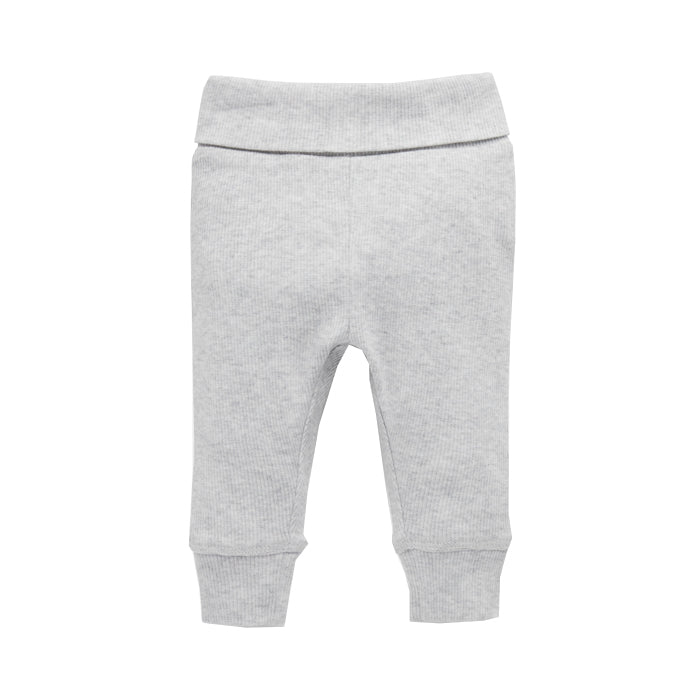 purebaby everyday legging pale grey baby pants organic cotton
