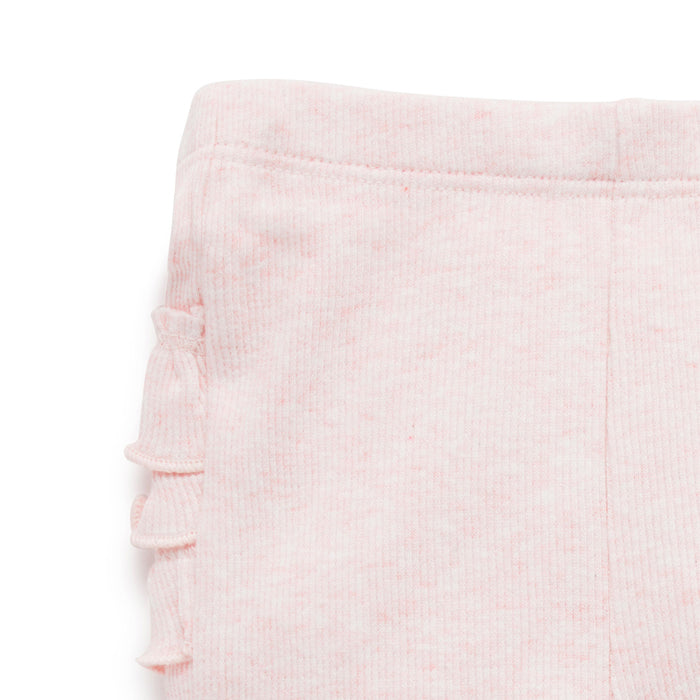 purebaby everyday ruffle legging baby girl organic cotton pants