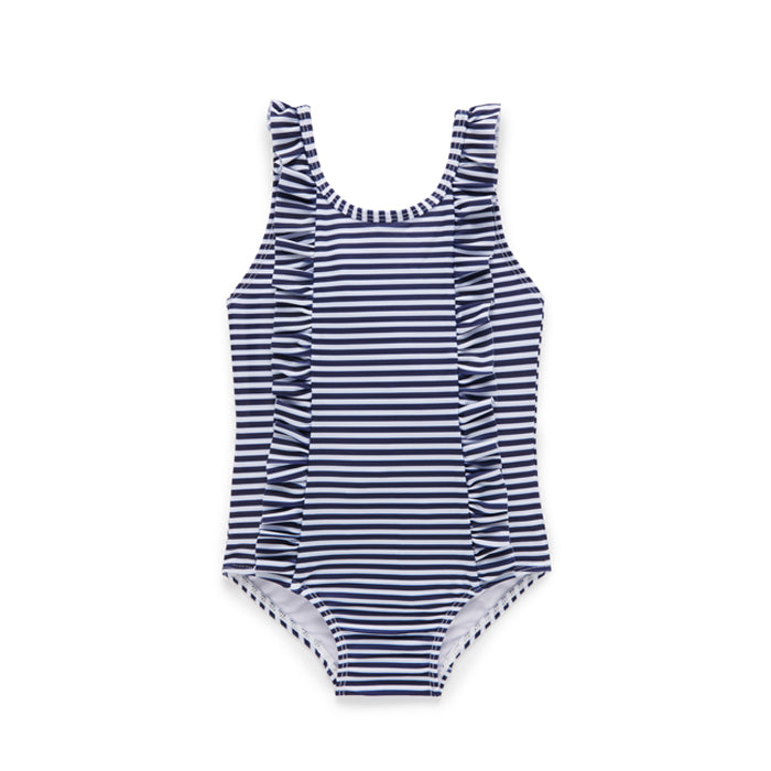purebaby organic french stripe swimsuit baby
