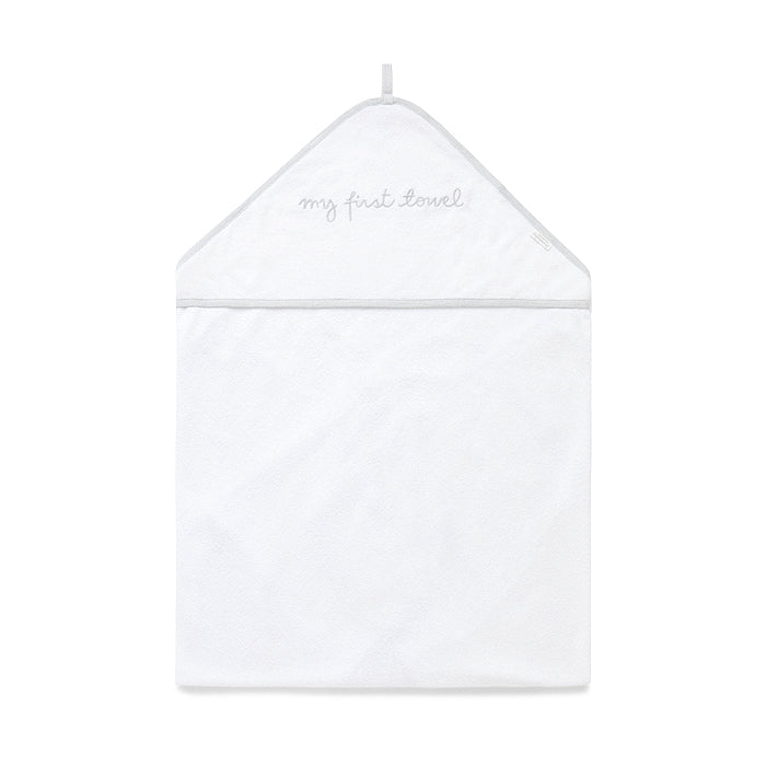 Hooded Towel in White