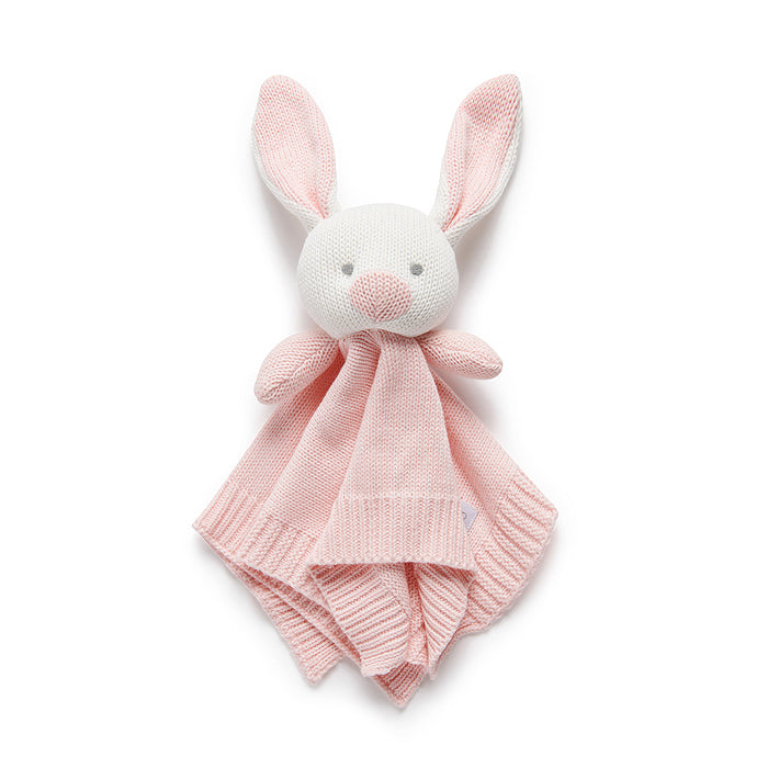 purebaby knitted rabbit comforter