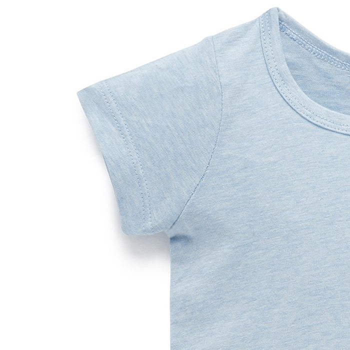 Essential Newborn Organic Tee in Soft Blue