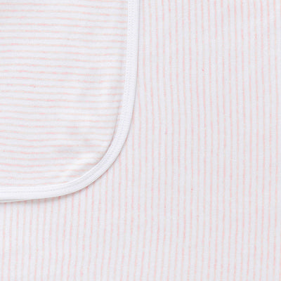 Essentials Swaddle in Pale Pink Melange Stripe