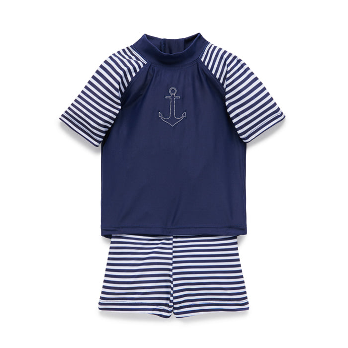 purebaby baby kids swimwear french stripe