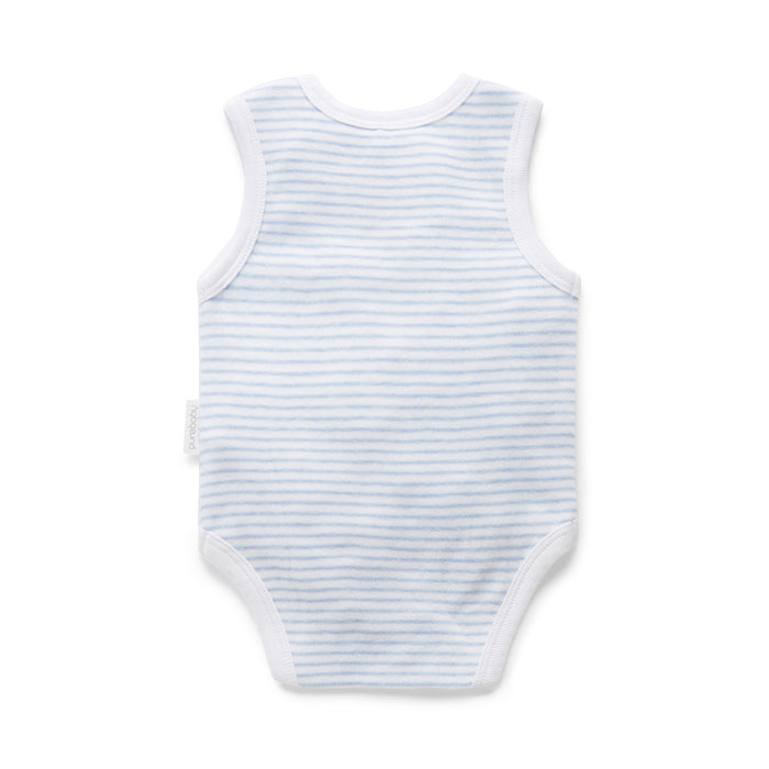 purebaby singlet bodysuit organic cotton baby clothes