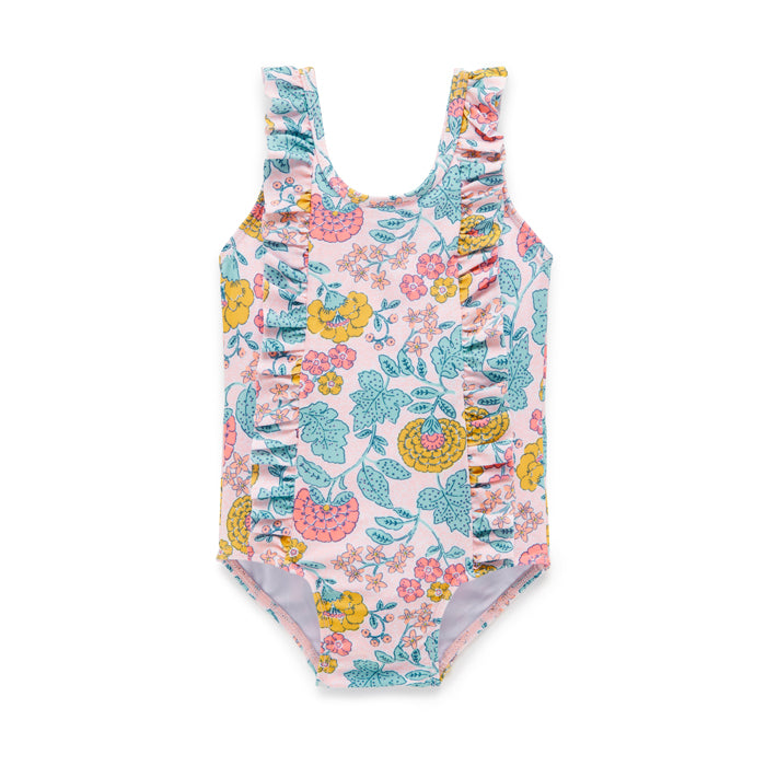 purebaby organic sweet marigold swim suit baby toddler swim