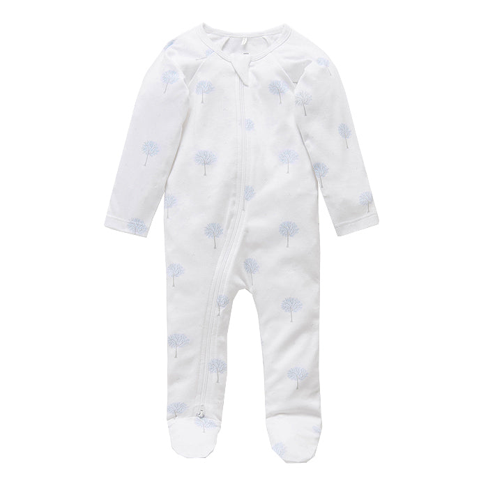 purebaby zip growsuit organic cotton baby clothes