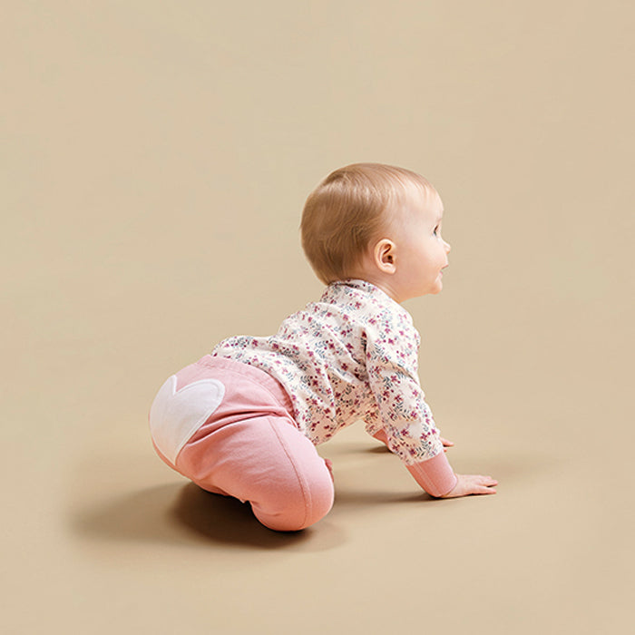 Pink Bloom Organic Cotton Heart Pants