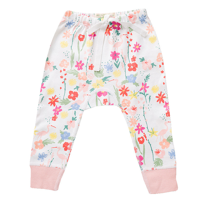 Floral Flamingo Pants
