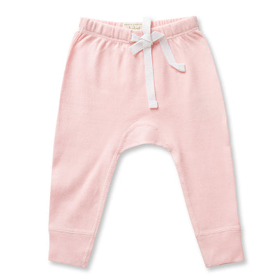 Baby Pink Organic Cotton Heart Pants