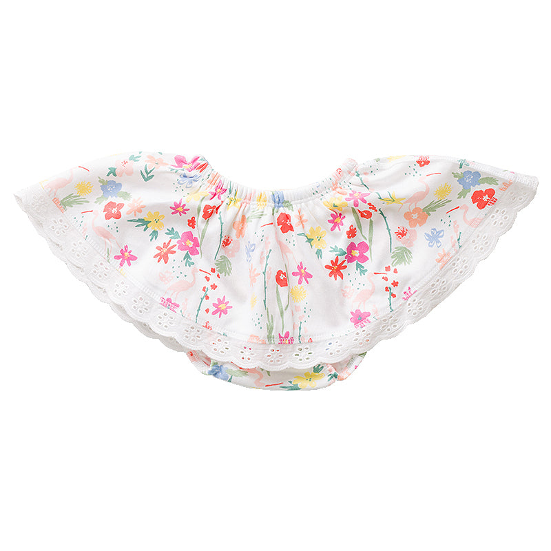 Floral Flamingo Skirt Bloomer