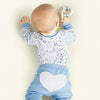 sapling baby unisex blue organic cotton heart pants baby photoshoot